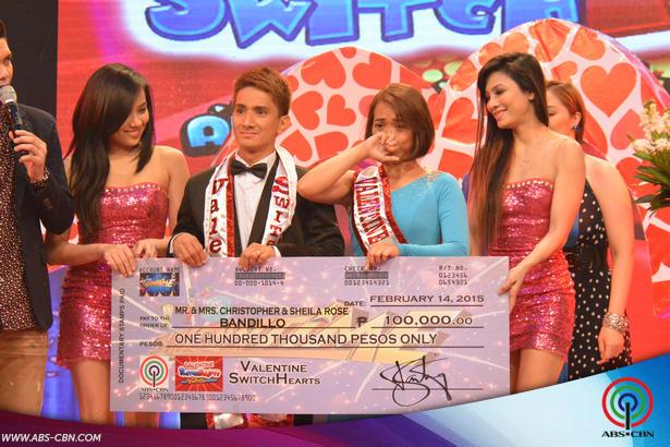 PHOTOS: Sheila at Christopher Bandillo ng Laguna ang ?#?ValentineSwitchHearts? ng It's Showtime!