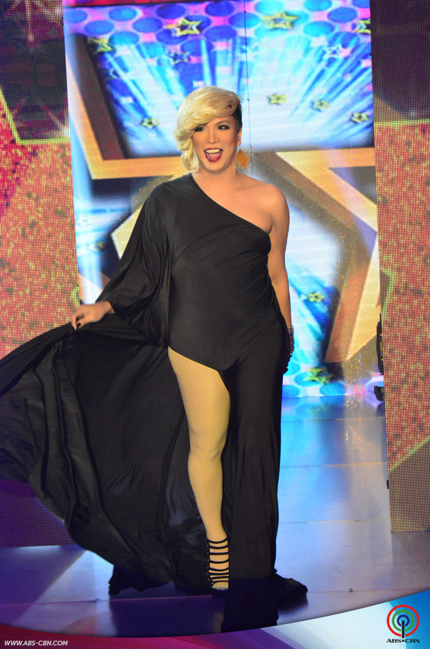 The host/judge on ABS-CBN's show It's Showtime, Vice Ganda