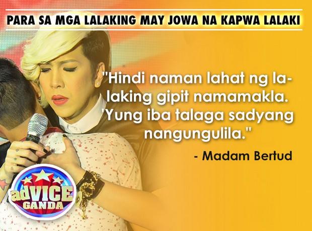 AdVice Ganda #WhoGoat Lines by Madam Bertud