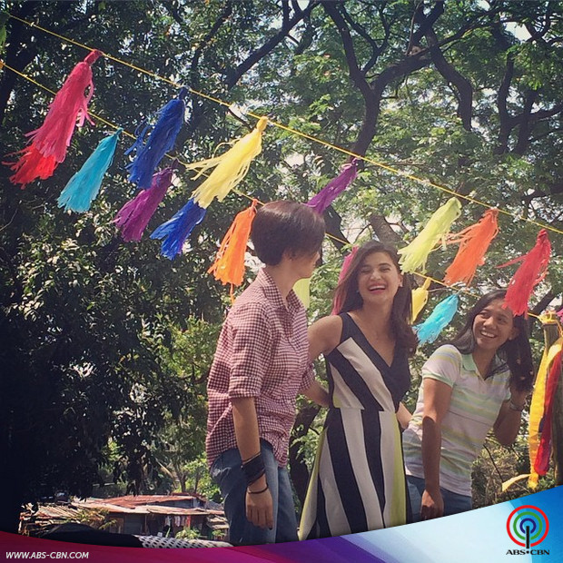 #ShinePilipinas: It's Showtime family at the ABS-CBN Summer Station ID 2015 shoot