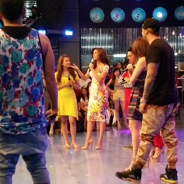 BTS PHOTOS: Bb. Pilipinas-Universe 2014 MJ Lastimosa, rumampa sa It's Showtime