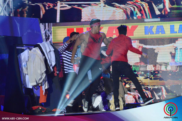 PHOTOS: Vhong, Eruption & Mini Me Winner Nhikzy Calma entertain madlang people with their kwelang dance showdown