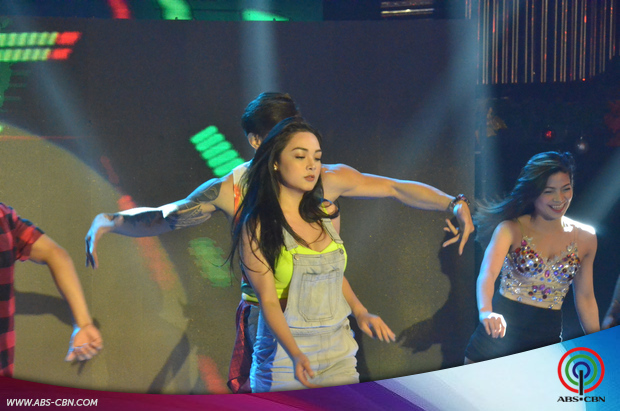 Zeus at Meg in sizzling hot Love Me Like You Do dance number