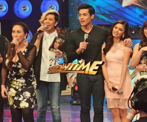 Kim Chiu, Xian Lim and Ai Ai Delas Alas, nakigulo sa It's Showtime!
