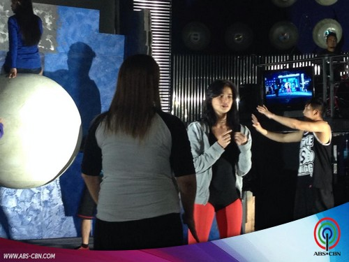 "EXCLUSIVE BEHIND-THE-SCENES PHOTOS: Anne rehearsing for her ""Wrecking Ball"" birthday prod"